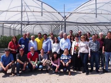 The TomGEM group visiting tomato greenhouses in the Campania region