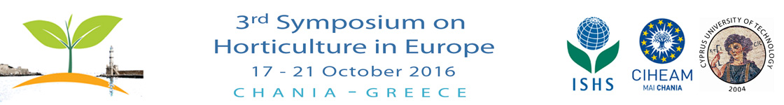 3rd International Symposium on Horticulture in Europe (SHE2016)